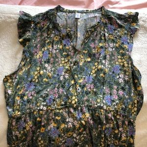 Floral pattern Old Navy sleeveless top. XXL.
